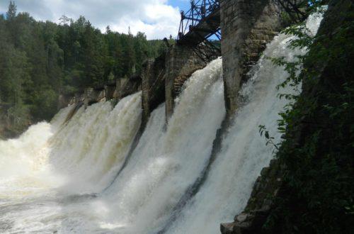 ГЭС на реке Большая Сатка у поселка Пороги