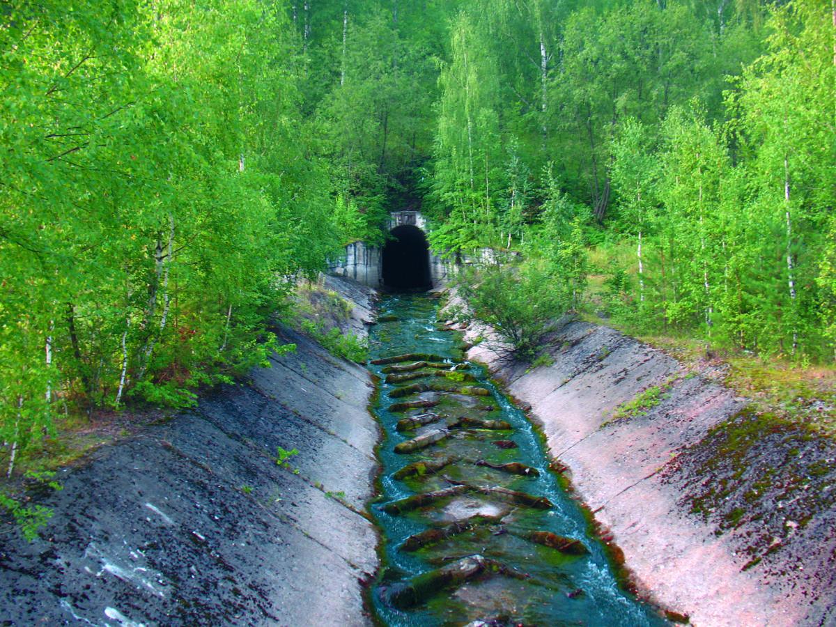 Река Каменка. Тоннель 1970 года